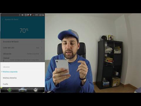 Xiaomi MI BAND, aplicación en español