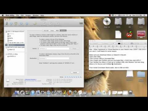 How to install Mac OS x Lion on Asus Laptop - Intel- Part 1