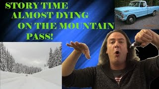 STORY TIME: Driving Across the Mountains in a Blizzard, & Almost Dying! | IndoorSmokers