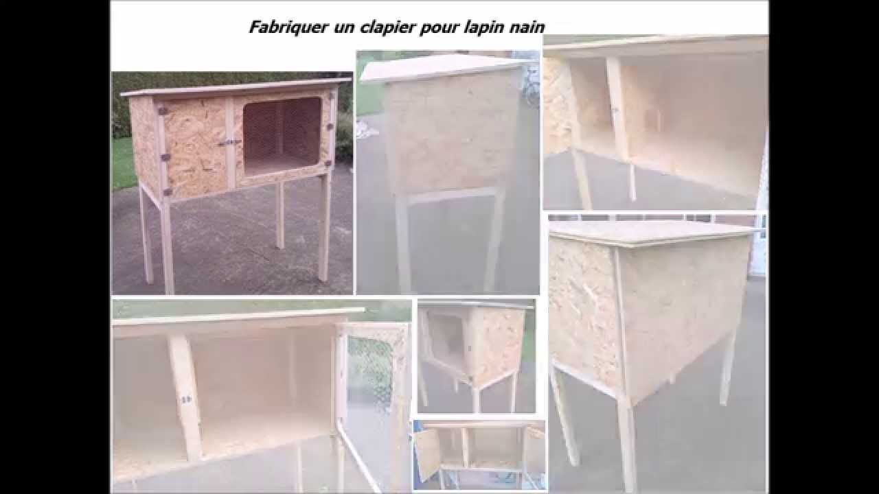 fabriquer un clapier en bois pour lapin nain youtube. Black Bedroom Furniture Sets. Home Design Ideas