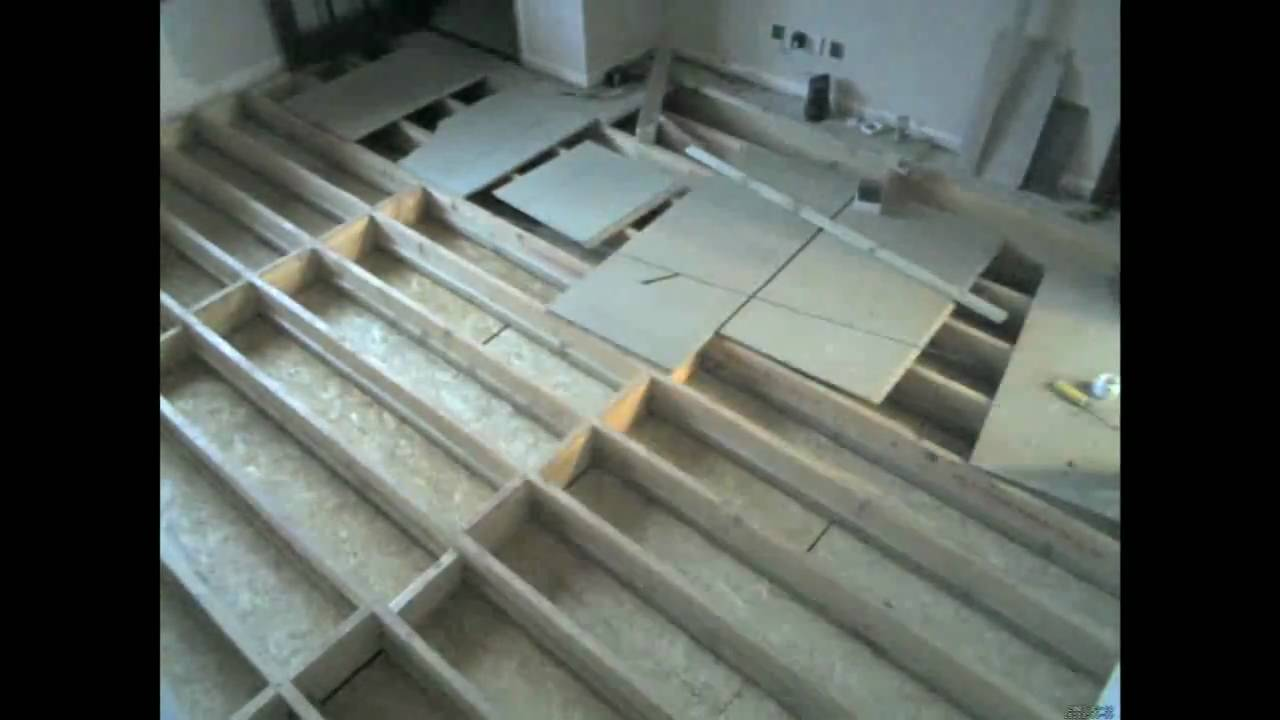 Existing Build Install Of Underfloor Water Heating Youtube