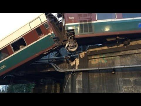 Imágenes del accidente de tren en EEUU con