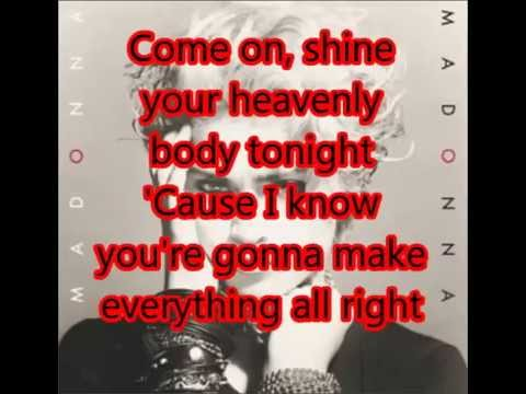 Madonna- Lucky Star Lyrics