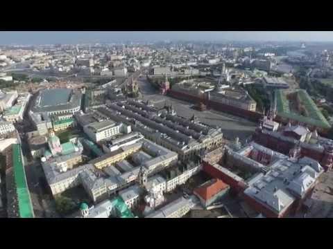 Москва, Кремль, Красная площадь - аэросъёмка