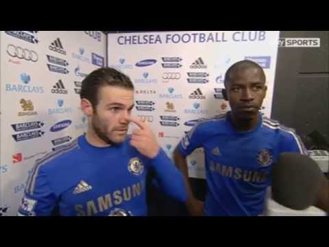 Chelsea Vs Arsenal 2-1 SKY Sports Interview Mata & Ramires 2013-01-20