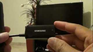 Samsung Galaxy S3: Connecting HDTV /MHL Adapter EPL-3FHU Through HDMI Port