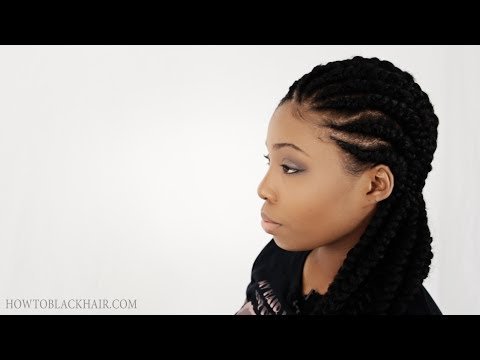 ... Do Ghana Braids / Cherokee Cornrows Finished Results Tutorial Part 3