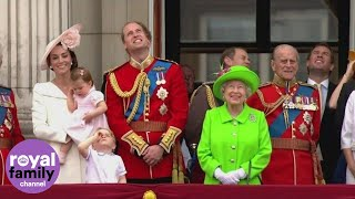 Princess Charlotte makes Buckingham Palace balcony debut