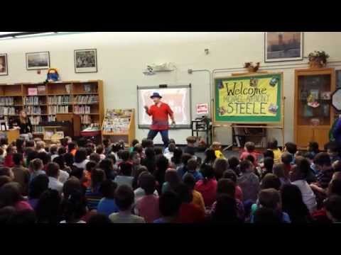 Author Michael Anthony Steele visits John S. Hobart Elementary School