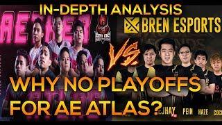 WHY NO PLAYOFFS FOR AE ATLAS? AE ATLAS VS BREN ESPORTS ANALYSIS | MOBILE LEGENDS