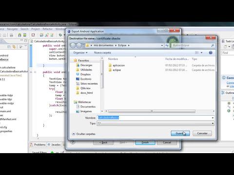 Tutorial android 4- Como exportar una aplicacion android(Compilar)