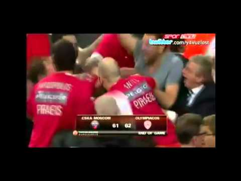 CSKA VS OLYMPIAKOS 61-62 EUROLEAGUE CHAMPIONS 6 DIFFERENT COMMENTATORS