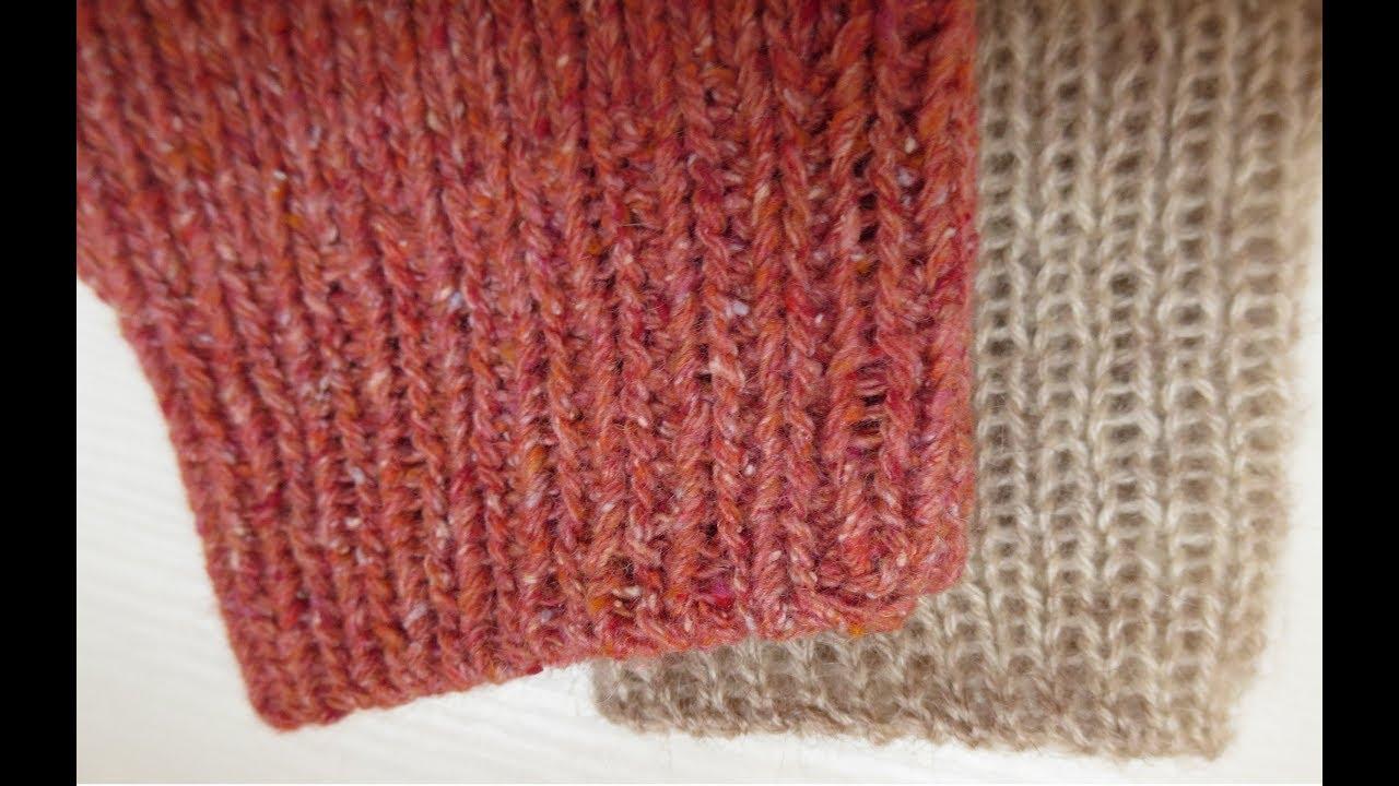Вязание спицами резинка 1x1 98