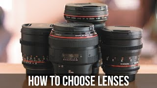 How to Choose Lenses For Your Film