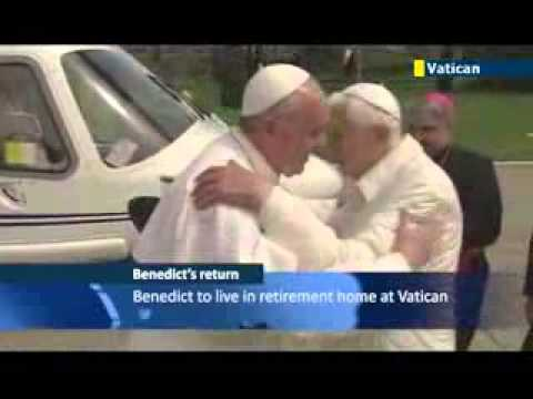 Two Popes in the Vatican  Former Pope Benedict returns to Vatican and joins Pope Francis