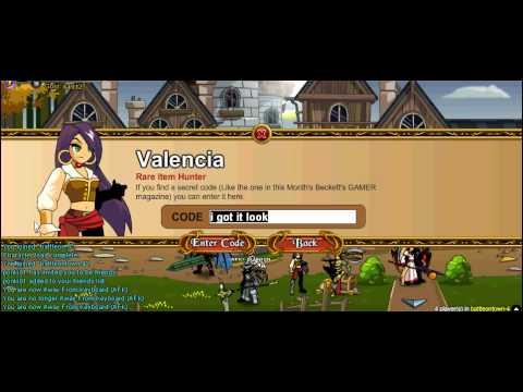 Adventure Quest World codes 2012