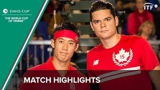 Highlights: Milos Raonic (CAN) v Kei Nishikori (JPN)