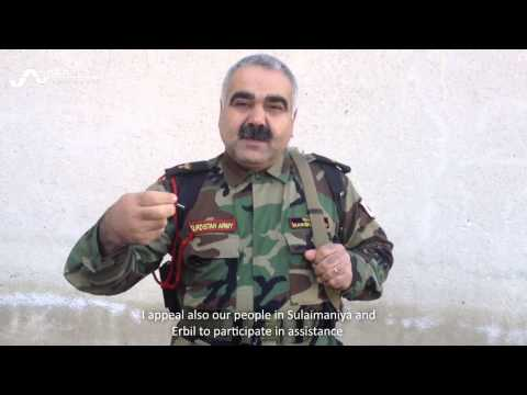 Major in the Peshmerga forces demands medical supply for Kobane