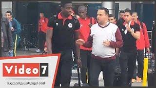 بالفيديو.. لحظة وصول لاعبي فريق نادي الفتحالرباطيالمغربي مطار القاهرة