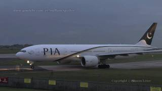 PIA 777-240ER New Colours. AP-BGK Dusk departure.