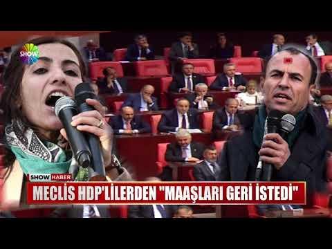 """Meclis HDP'lilerden """"Maaşları geri istedi"""""""