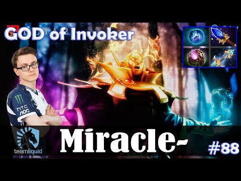 Miracle - GOD of Invoker MID | 7.07 Update Patch Dota 2 Pro MMR  Gameplay #88