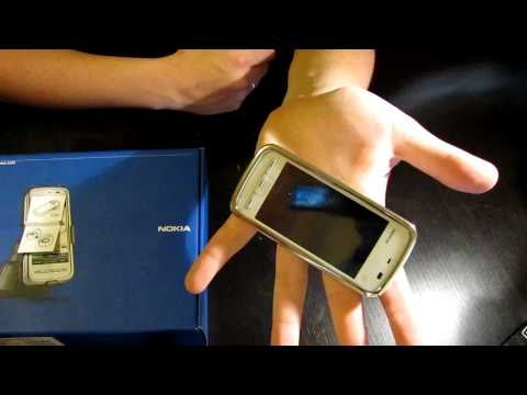 Обзор Nokia 5230 white chrome [HD]