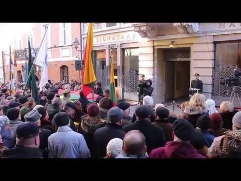 V.Landsbergio kalba iš Lietuvos respublikos signatarų namų 2015m. vasario 16d.