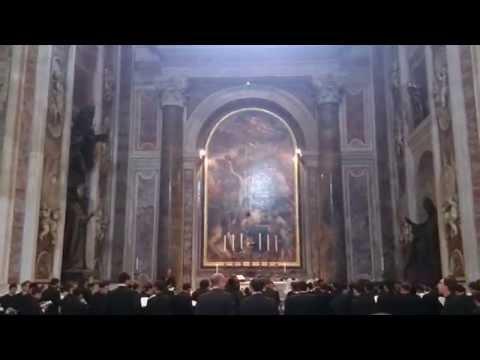 Priests singing in St Peter's Basilica Vatican City
