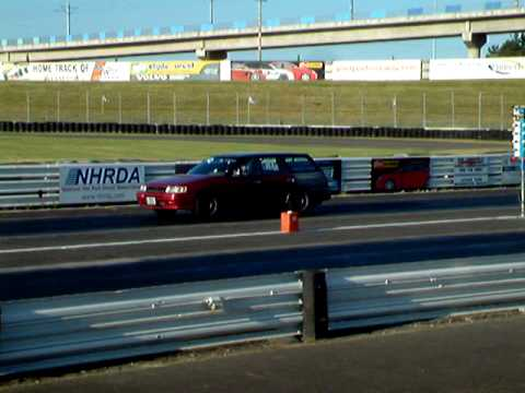 Subaru Legacy wagon, Burns up Track at PIR Late Night Drags