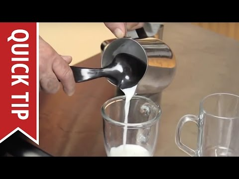 How To Make A Cappuccino Or Latte - Steaming and Frothing Milk