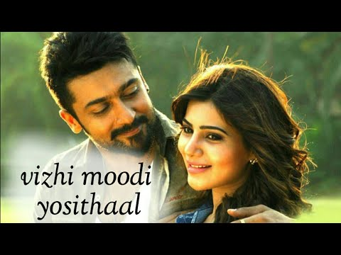 Vizhi moodi yosithal song lyrics Tamil WhatsApp status | Surya | Ayan | tamil love status