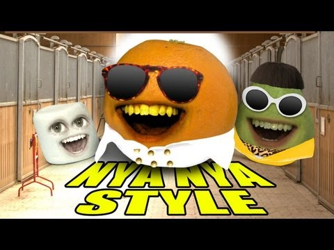 Annoying Orange - Orange Nya Nya Style (gangnam Style Spoof) video