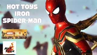 Hot Toys MMS482 Avengers Infinity War Iron Spider-Man figure Unboxing