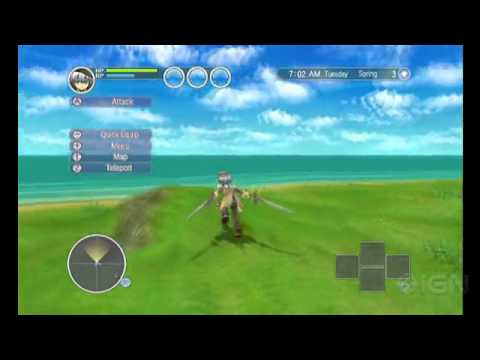 Rune Factory: Tides of Destiny Gameplay Demo(Wii)