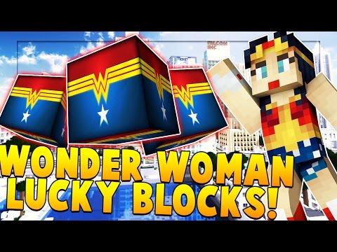 WONDER WOMAN (SUPER HERO) LUCKY BLOCK MOD CHALLENGE   Minecraft - Lucky Block Mod