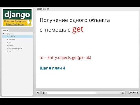 Django. Получение одного объекта с помощью get.