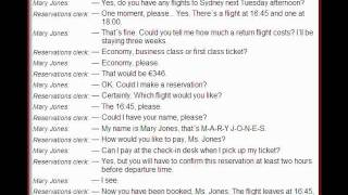 English dialogues no 2 Reservations airline