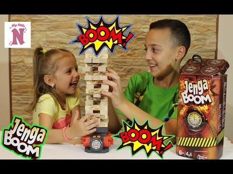 ДЖЕНГА БУМ ЧЕЛЛЕНДЖ Строим башню Challenge Jenga Boom Популярная детская настольная игра