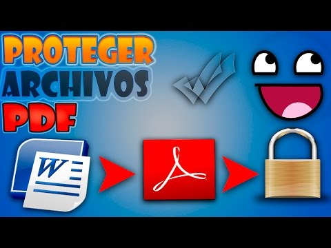 Como proteger archivos pdf | How protect pdf files | .pdf | 2015 | Windows 10, 8.1, 7