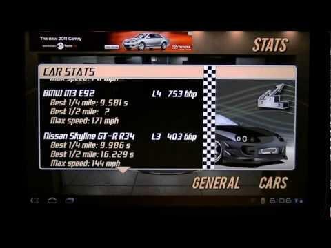 Drag Racing 9.986 TUNE level 3 1/4 Nissan Skyline Tablet advantage?