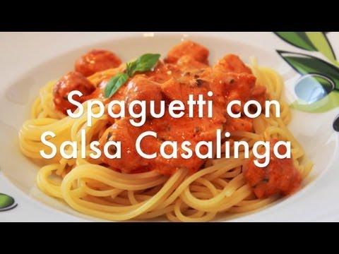 Spaghetti o espaguetis con Salsa Casalinga estilo La Tagliatella - Recetas de Pasta