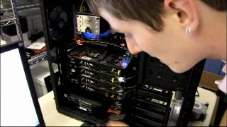 4-way SLI Rig Setup Core i7 980X 4x GTX 480 eVGA Classified Silverstone 1500W One Linus Tech Tips