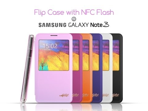 Samsung Galaxy Note 3 Flip Case with NFC Flash