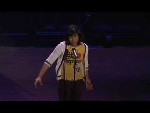 Jasmine Mans at the 2008 Urban Word NYC Teen Poetry Slam Finals