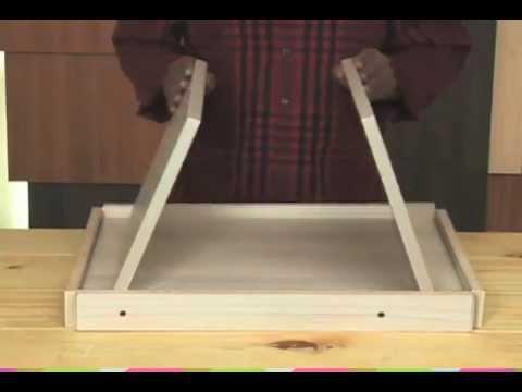 C mo hacer una bandeja para comer youtube - Como hacer una mesa de ordenador ...
