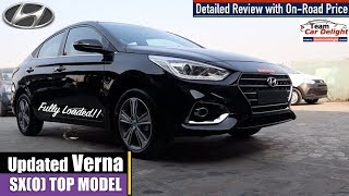 Hyundai Verna SXO 2019 Detailed Review with On Road Price,Features and Interior | Verna Top Model