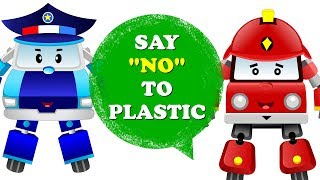 Baby Car on a Mission to Save Ocean from Plastic Use | Fire Truck and Police Car Cartoon