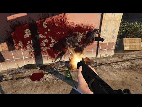 GTA 5 - Animal Cannon Mod (Shoot Animals With A Gun)