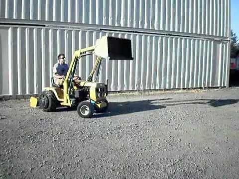 Montgomery Ward Gilson Tractor With Loader Amp Box Scraper